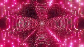 vermelho brilhante túnel abstrato ilustração 3d vj loop video