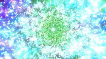 partículas espaciais que mudam de cor ilustração 3d vj loop video
