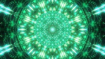 partículas de estrela verde-azul ilustração 3D visual vj loop