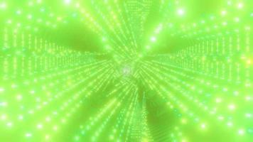 verde brilhante abstrato túnel ilustração 3d vj loop video