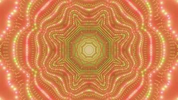 ilustração 3d de pontos brilhantes abstratos dj visual