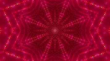 Resumo em forma de estrela pontos de néon ilustração 3d vj loop video