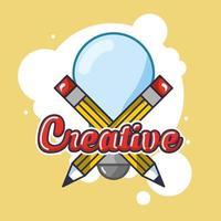 Light bulb and creative arts icons vector