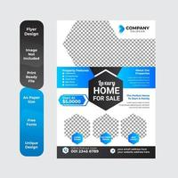 Geometric real estate brochure design template vector
