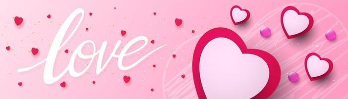 concepto de san valentín, cartel dulce o pancarta vector