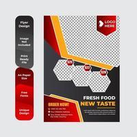 Modern restaurant flyer template vector