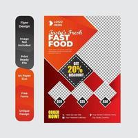 buffet de comida deliciosa folleto o diseño de volante vector