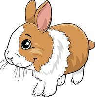 caricatura, conejo enano, cómico, animal, carácter vector