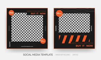 Set Of Fashion and clothing social media banner post template vector