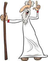 Profeta o sabio personaje cómico ilustración de dibujos animados
