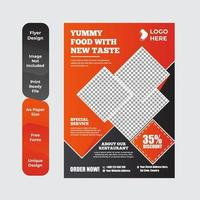 Healthy food restaurant poster template vector