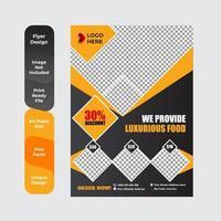 diseño de plantilla de menú de restaurante café vector