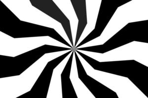 Black and white spiral background, swirling radial pattern, abstract vector illustration