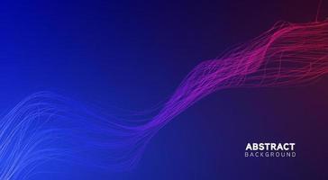 luces abstractas con un haz dinámico de fondo vector