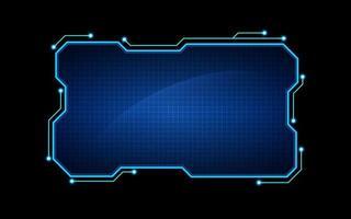 Fondo de diseño de plantilla de marco de holograma de ciencia ficción de tecnología abstracta vector