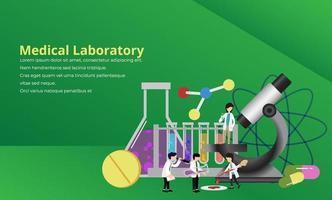 Medical laboratory research concept vector