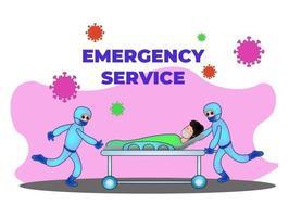 Medical Staff Service Occupation. Medics Wearing Protective Masks, Saving Lives vector