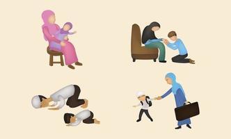 Ramadan kareem cute element illustration vector