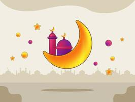 Ramadan kareem cute background illustration vector