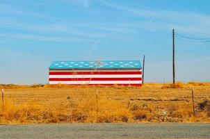 United States, 2020 - Barn painted with an American flag