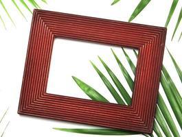 Frame on leaves photo