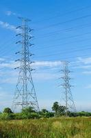 High voltage towers in Thailand