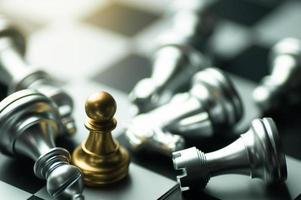 pieza de ajedrez peón de oro
