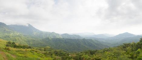 Forest and mountains in Thailand photo