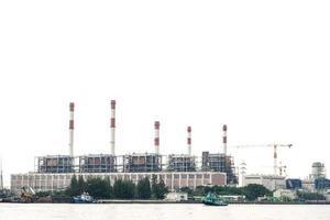 Power plant at the river in Bangkok photo
