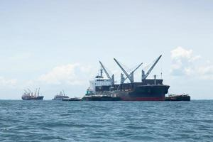 Large cargo ships in Thailand