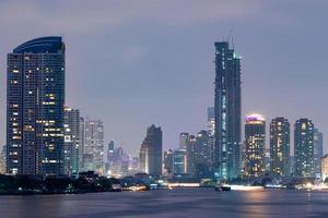 Skyscrapers in Bangkok city photo