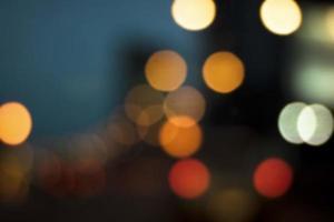 Soft blur bokeh background of car light photo