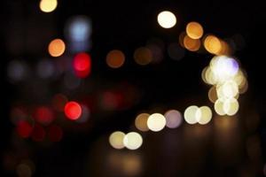 Desenfocado ciudad noche suave desenfoque bokeh de fondo foto
