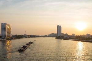Bangkok skyline at sunset photo
