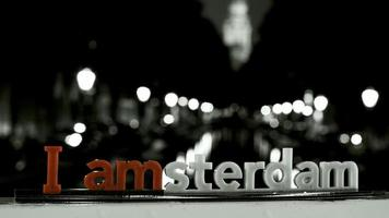 I amsterdam sign with selective coloring