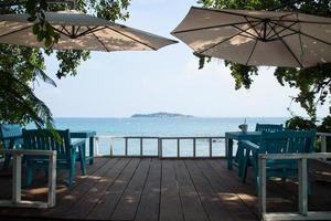 Restaurant by the sea in Thailand photo