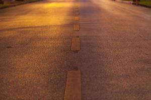 primer plano de la carretera de asfalto