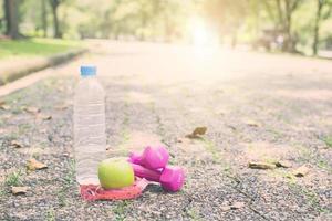 concepto de dieta de ejercicio y fitness