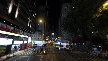 hong kong, 2020 - exposición prolongada del tráfico urbano foto