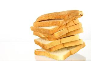 Stack of bread slices photo