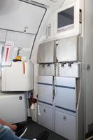 interior de avión moderno