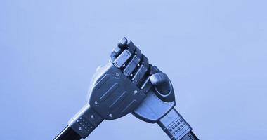 Metal robot hands photo