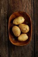 patatas en un tazón foto