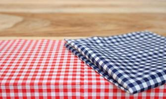 Tablecloth on wood