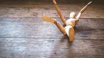 Wooden figure study model