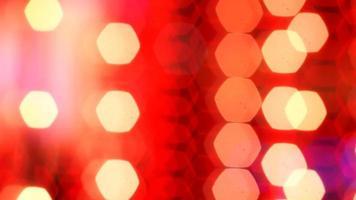 Red string lights bokeh