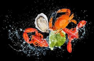 Seafood and water