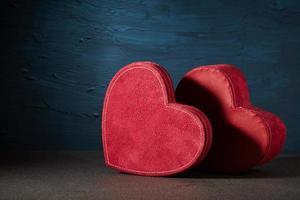 Velvet red hearts photo