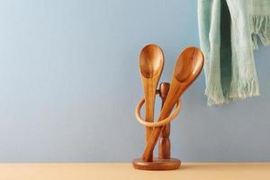 Wooden spoons on table