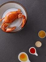 Crab and toppings